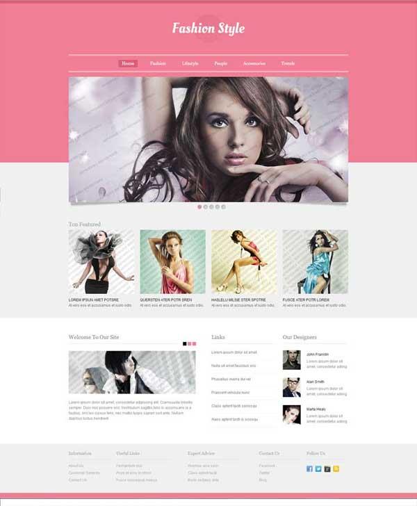 Дизайн сайта о моде